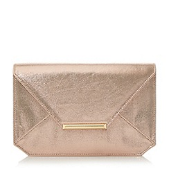 Head Over Heels by Dune - Gold 'Beronica' envelope clutch bag