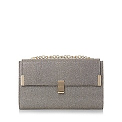 Head Over Heels by Dune - Gold 'Braya' curb chain flap over clutch bag