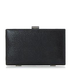 Head Over Heels by Dune - Black 'Benata' frame detail hard case clutch bag
