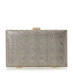 Head Over Heels by Dune - Gold 'Benata' frame detail hard case clutch bag