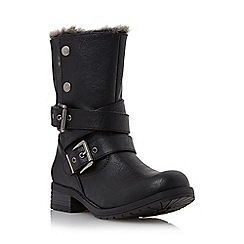 Head Over Heels by Dune - Black 'Rutt' faux fur lined calf boot
