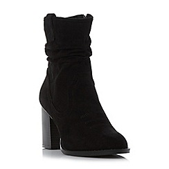 Head Over Heels by Dune - Black 'Railey' western slouch calf boot