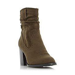 Head Over Heels by Dune - Green 'Railey' western slouch calf boot