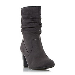 Head Over Heels by Dune - Grey 'Rhonda' ruched calf boot