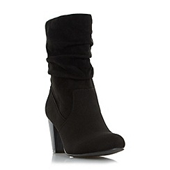 Head Over Heels by Dune - Black 'Rhonda' ruched calf boot