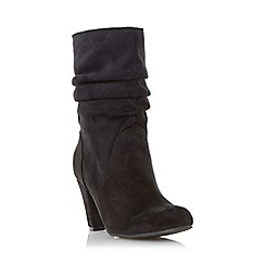 Head Over Heels by Dune - Black 'Rhoda' ruched dressy heeled boot