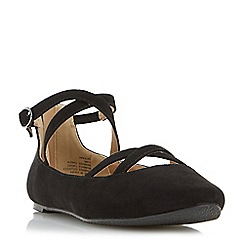 Head Over Heels by Dune - Black 'Helenna' pointed toe mary jane ballet pump