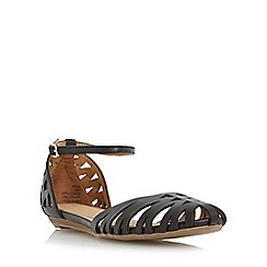 Head Over Heels by Dune - Black 'Haidyn' closed toe hurrache sandal