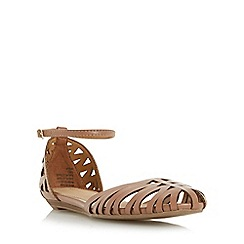 Head Over Heels by Dune - Tan 'Haidyn' closed toe hurrache sandal