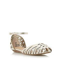 Head Over Heels by Dune - Gold 'Haidyn' closed toe hurrache sandal