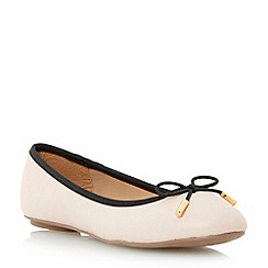 Head Over Heels by Dune - Neutral bow trim ballerina shoe
