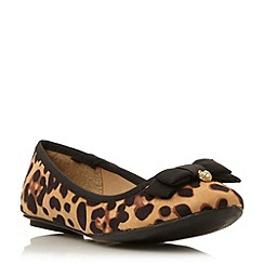 Head Over Heels by Dune - Leopard bow detail ballerina pump