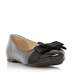 Head Over Heels by Dune - Black 'Herva' bow detail ballerina flat shoe