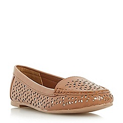 Head Over Heels by Dune - Tan 'Hasier' laser cut loafer