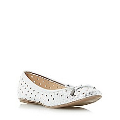 Head Over Heels by Dune - Silver 'Horizon' woven ballet pump