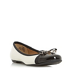 Head Over Heels by Dune - Multicoloured 'Hadisia' toe cap detail bow trim ballet shoe