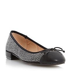 Head Over Heels by Dune - Black 'Hascha' studded ballerina shoe