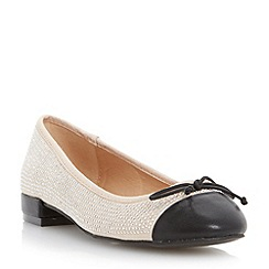 Head Over Heels by Dune - Neutral studded ballerina shoe