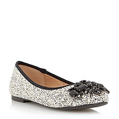 Head Over Heels by Dune - Multicoloured 'Hestiar' jewel detail ballerina shoe
