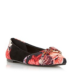 Head Over Heels by Dune - Multicoloured 'Hermees' floral printed ballerina shoe
