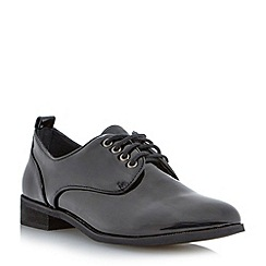Head Over Heels by Dune - Black patent lace up brogue