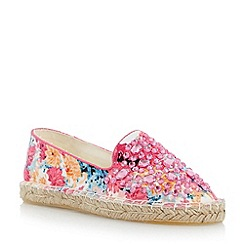Head Over Heels by Dune - Pink gem detail espadrille shoe