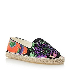 Head Over Heels by Dune - Black gem detail espadrille shoe