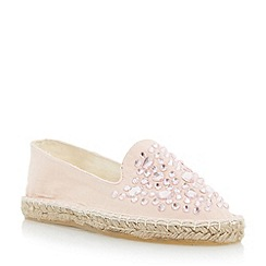 Head Over Heels by Dune - Neutral gem detail espadrille shoe