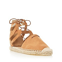 Head Over Heels by Dune - Tan 'Gilli' two part ghillie lace espadrille shoe
