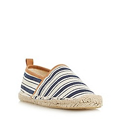 Head Over Heels by Dune - Navy 'Glyde' striped closed espadrille shoe