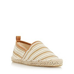 Head Over Heels by Dune - Gold 'Glyde' striped closed espadrille shoe