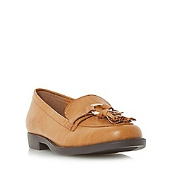 Head Over Heels by Dune - Tan 'Gussie' ring and tassel detail loafer