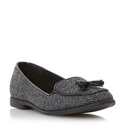 Head Over Heels by Dune - Grey tassel detail loafer