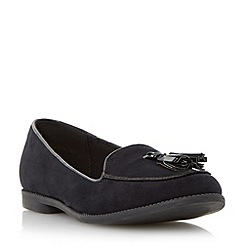 Head Over Heels by Dune - Black tassel detail loafer