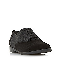 Head Over Heels by Dune - Black 'Giaa' mixed material lace up shoe