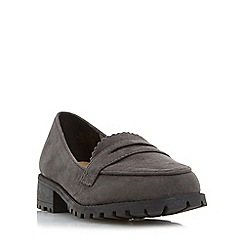 Head Over Heels by Dune - Grey 'Gissell' cleated sole penny loafer shoe