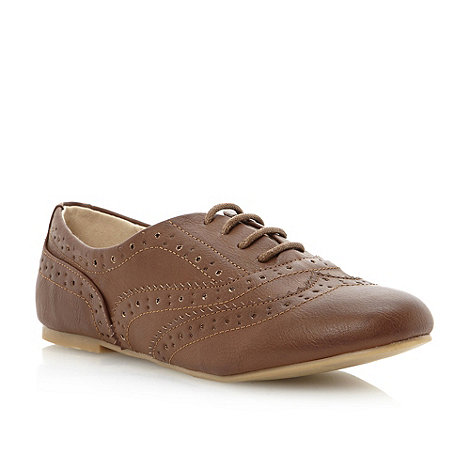 Head Over Heels by Dune - Brown scallop detail oxford brogue shoe