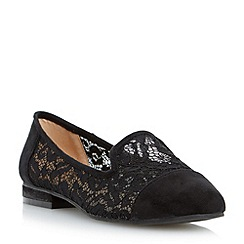 Head Over Heels by Dune - Black 'Gesell' lace slipper cut shoe