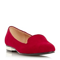 Head Over Heels by Dune - Red 'Lylo' slipper cut loafer