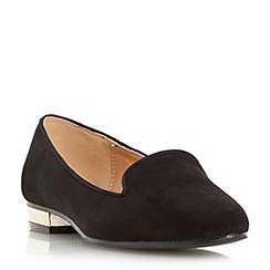 Head Over Heels by Dune - Black 'Lylo' slipper cut loafer