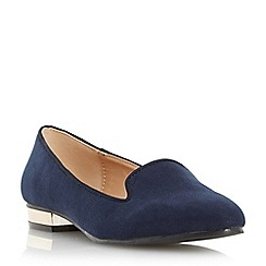 Head Over Heels by Dune - Navy 'Lylo' slipper cut loafer