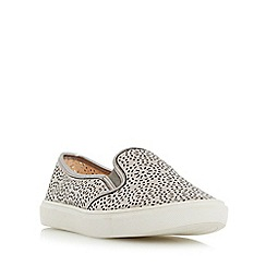 Head Over Heels by Dune - Silver 'Eletta' laser cut slip on shoe