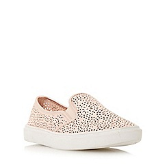 Head Over Heels by Dune - Rose 'Eletta' laser cut slip on shoe