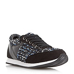 Head Over Heels by Dune - Black 'Effect' dressy lace up trainer