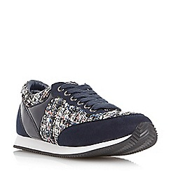 Head Over Heels by Dune - Navy 'Effect' dressy lace up trainer