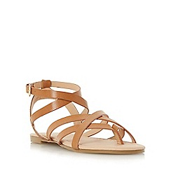 Head Over Heels by Dune - Tan 'Lavella' strappy gladiator sandal