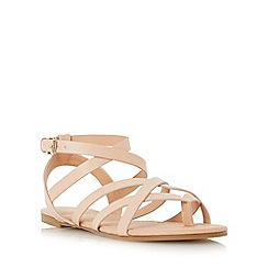 Head Over Heels by Dune - Natural 'Lavella' strappy gladiator sandal