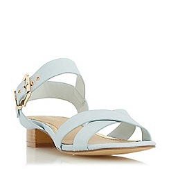 Head Over Heels by Dune - Light green 'Nadie' block heel cross strap sandal