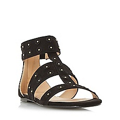Head Over Heels by Dune - Black 'Libbey' flat studded sandal