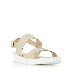 Head Over Heels by Dune - Gold 'Linsy' eva sole flatform sandal